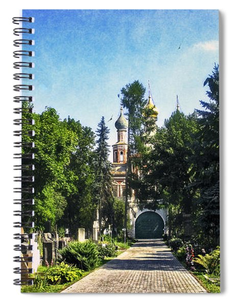 Novodevichy Cemetery 2 - Moscow - Russia Spiral Notebook
