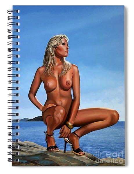 Nude Blond Beauty Spiral Notebook