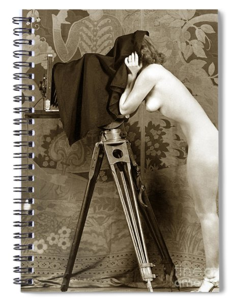 Nude In High Heel Shoes With Studio Camera Circa 1920 Spiral Notebook