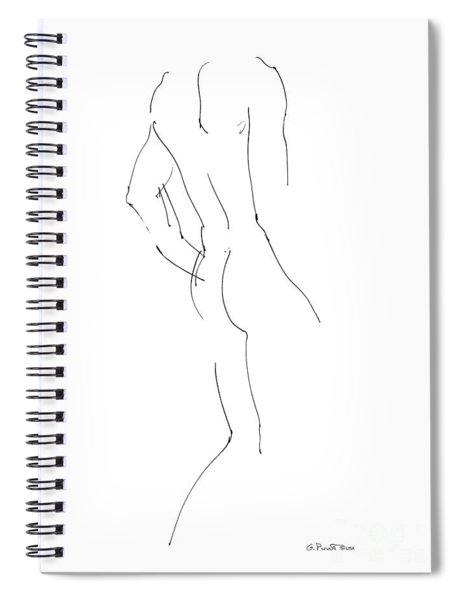 Nude Male Drawings 2 Spiral Notebook