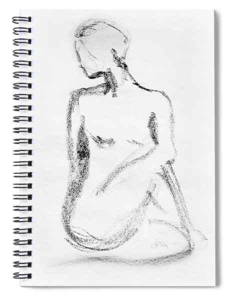 Nude Model Gesture Vi Spiral Notebook