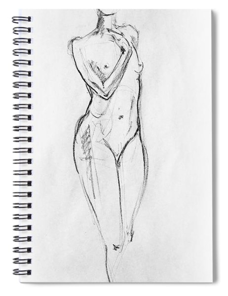 Nude Model Gesture Viii Spiral Notebook by Irina Sztukowski