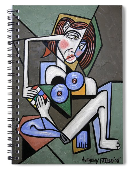 Nude Woman With Rubiks Cube Spiral Notebook