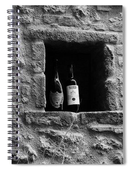 Number 19 Bw Spiral Notebook