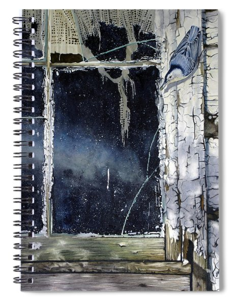 Nuthatch And Window Spiral Notebook
