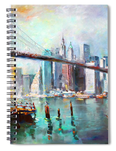Ny City Brooklyn Bridge II Spiral Notebook