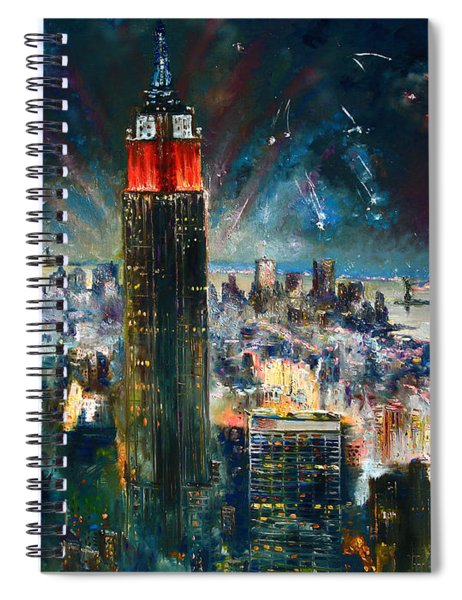 Nyc In Fourth Of July Independence Day Spiral Notebook