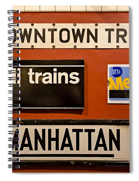 Nyc Subway Signs Spiral Notebook