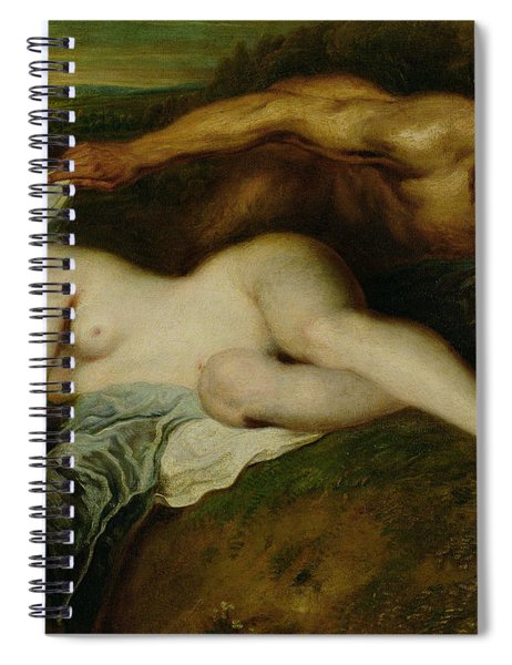 Nymph And Satyr Spiral Notebook
