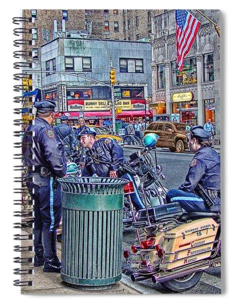 Nypd Highway Patrol Spiral Notebook