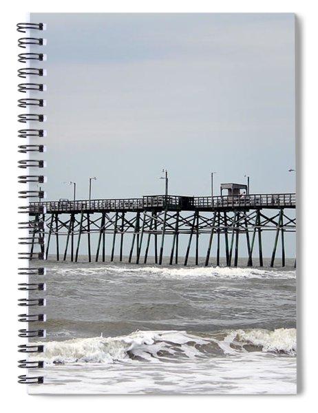 Oak Island Beach Pier Spiral Notebook
