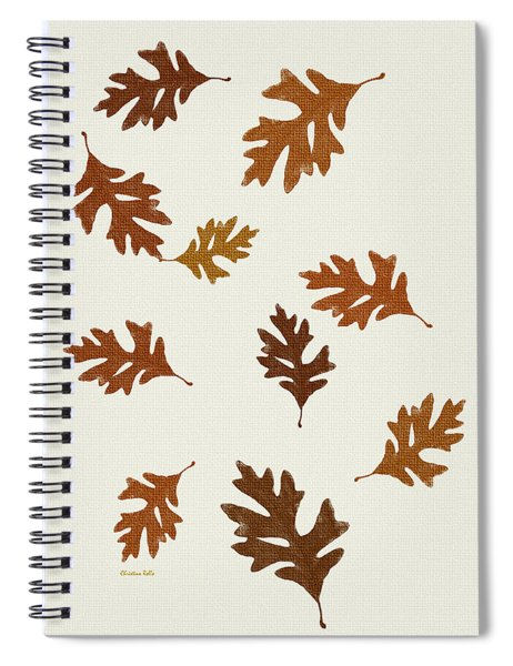 Oak Leaves Art Spiral Notebook