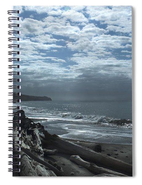 Ocean Beach Pacific Northwest Spiral Notebook
