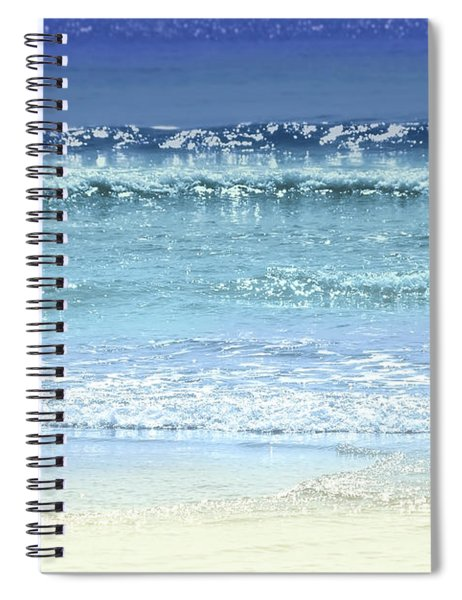 Ocean Colors Abstract Spiral Notebook
