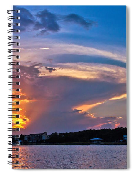 Ocean Isle Sunset Spiral Notebook