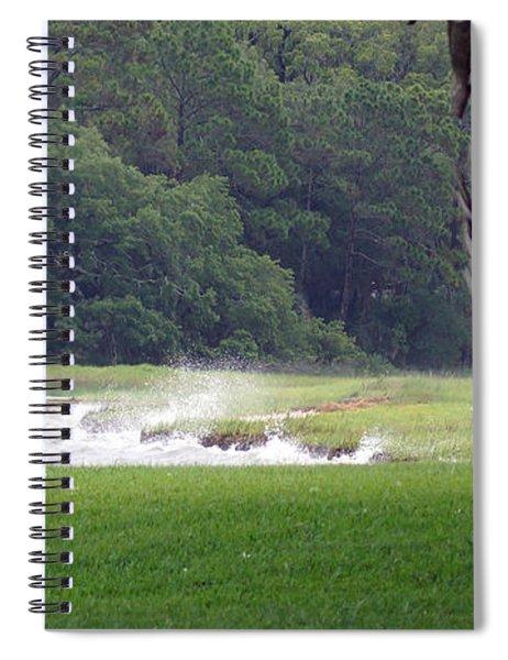 Ocean Spray At Hilton Head Island Spiral Notebook