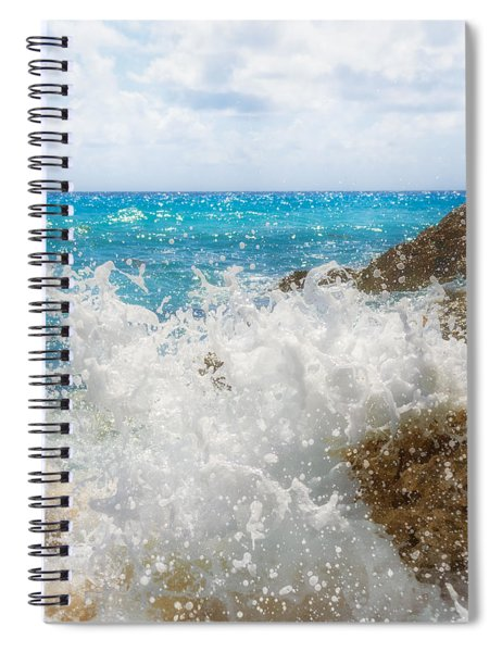 Spiral Notebook featuring the photograph Ocean Spray by Garvin Hunter
