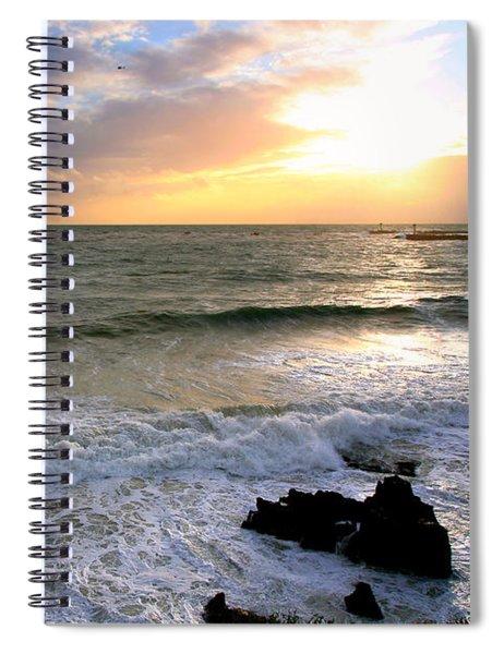 Ocean Sunset 84 Spiral Notebook