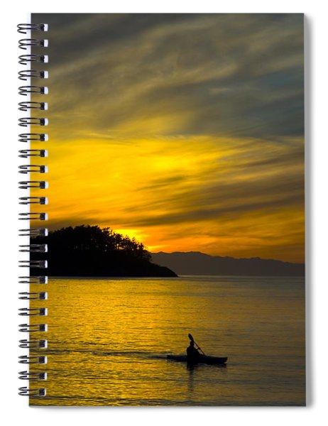 Ocean Sunset At Rosario Strait Spiral Notebook