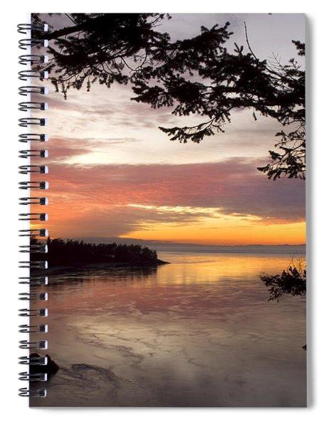 Ocean Sunset Deception Pass Spiral Notebook
