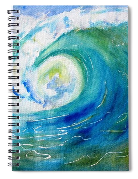 Ocean Wave Spiral Notebook