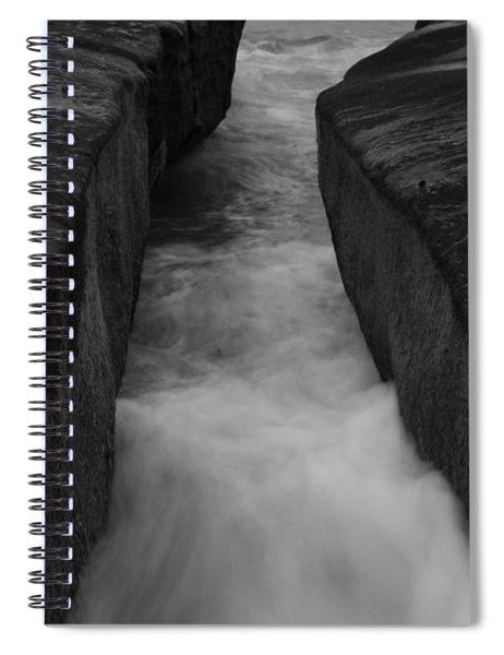 La Jolla Rocks In Surf  Spiral Notebook