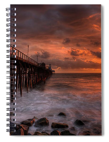 Oceanside Pier Perfect Sunset -ex-lrg Wide Screen Spiral Notebook