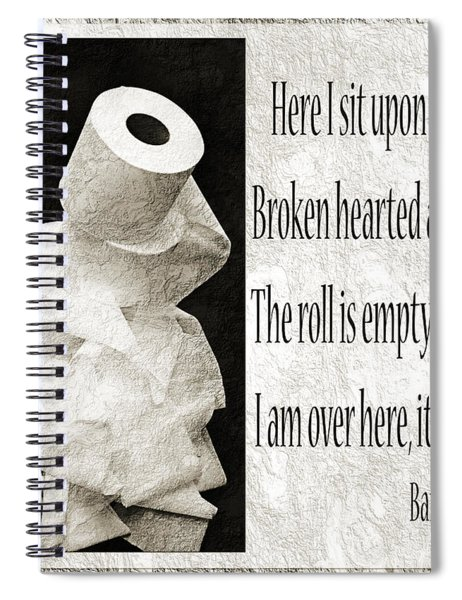 Ode To The Spare Roll Bw 2 Spiral Notebook