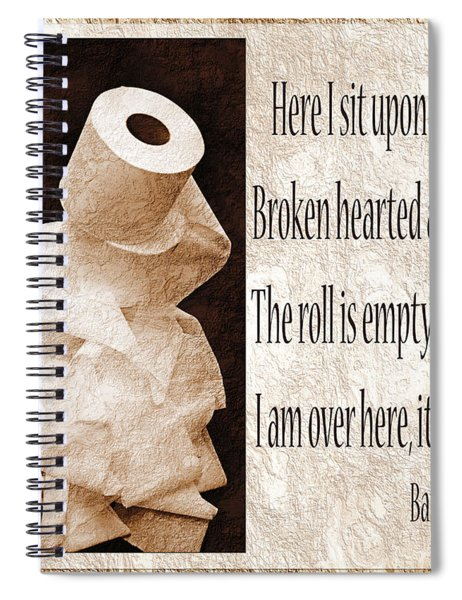 Ode To The Spare Roll Sepia 2 Spiral Notebook