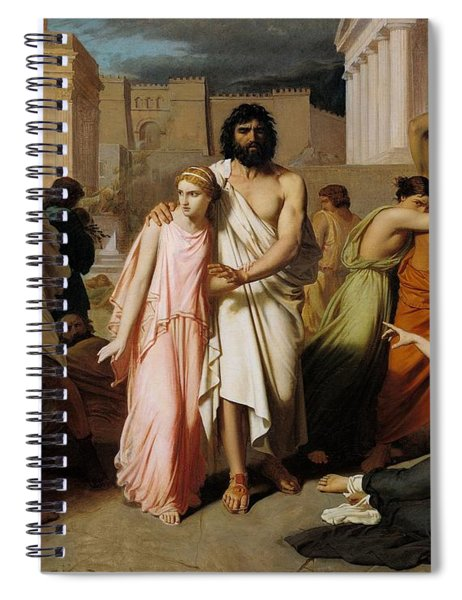 Oedipus And Antigone Or The Plague Of Thebes  Spiral Notebook