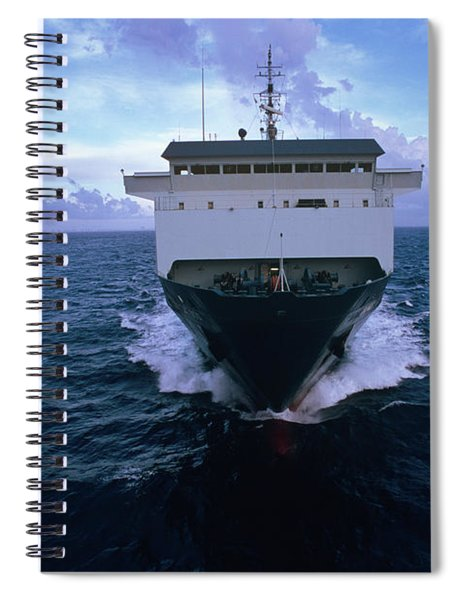 Off Shore Container Ship Crowley Sun Spiral Notebook