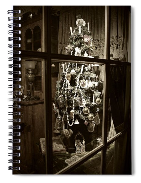Oh Christmas Tree - Sepia Spiral Notebook