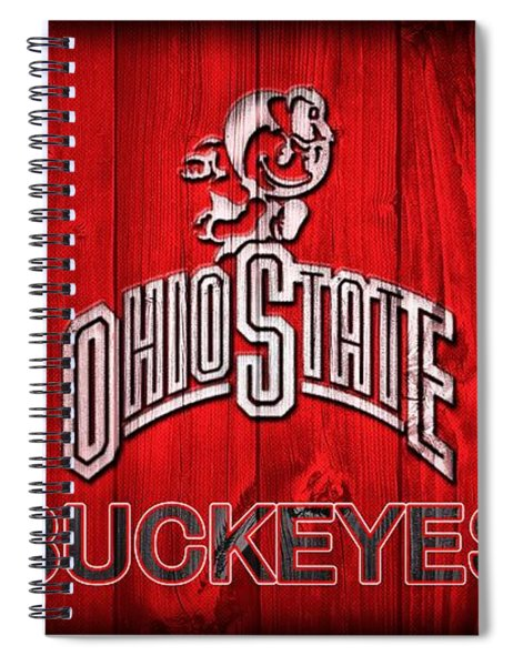 Ohio State Buckeyes Barn Door Vignette Spiral Notebook