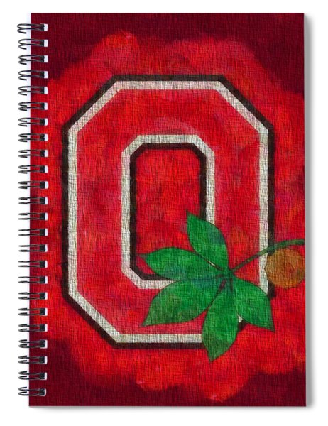 Ohio State Buckeyes On Canvas Spiral Notebook