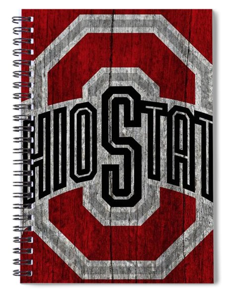Ohio State University On Worn Wood Spiral Notebook