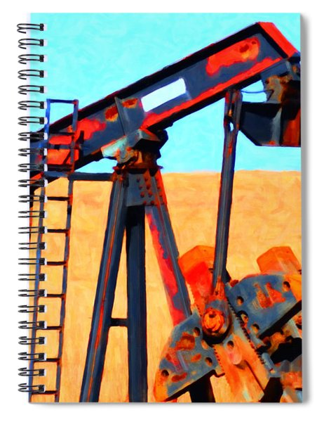 Oil Pump - Painterly Spiral Notebook