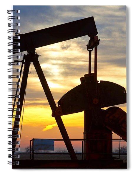 Oil Pump Sunrise Spiral Notebook