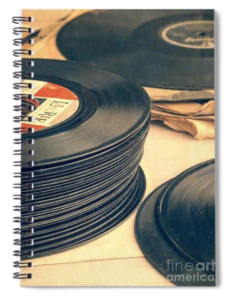 Old 45s Spiral Notebook