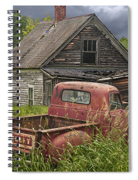 Old Abandoned Homestead And Truck Spiral Notebook