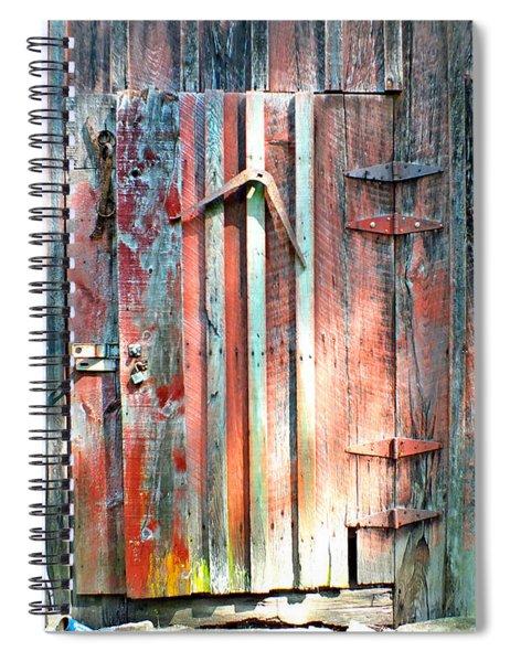 Old Barn Door 2 Spiral Notebook