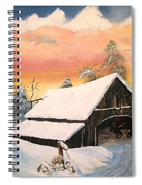 Old Barn Guardian Spiral Notebook