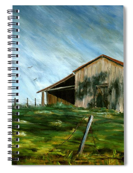 Old Barn Landscape Art Pleasant Hill Louisiana  Spiral Notebook