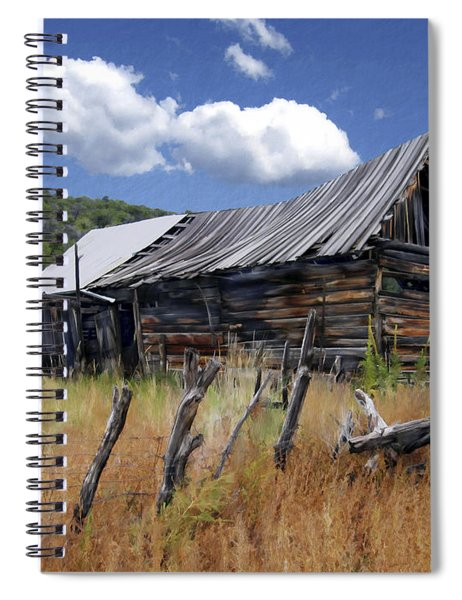 Old Barn Las Trampas New Mexico Spiral Notebook