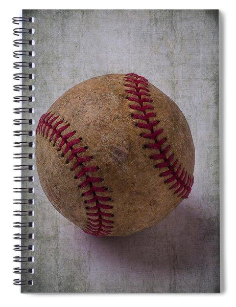 Old Baseball Spiral Notebook