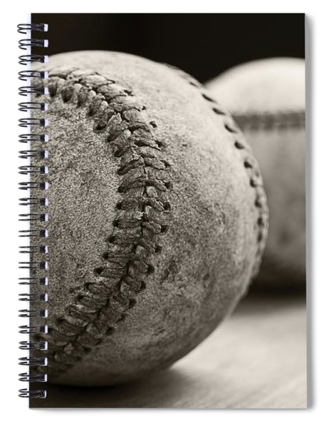 Old Baseballs Spiral Notebook
