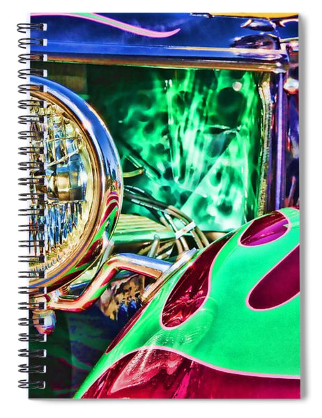 Old Betty Ford Vintage Car By Diana Sainz Spiral Notebook