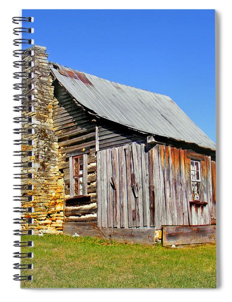 Old Cabin Along Macedonia Church Road Spiral Notebook