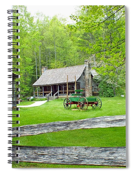 Old Cabins At The Cradle Of Forestry Spiral Notebook