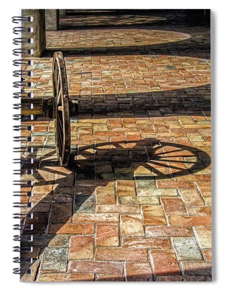 Old Canon And Shadows In The Courtyard Of The Old Aranama Mission Spiral Notebook