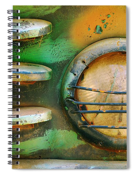Old Car Headlight Spiral Notebook